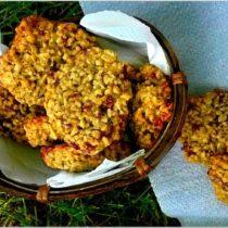 Ciasteczka słonecznikowe z żurawiną (bez mąki)