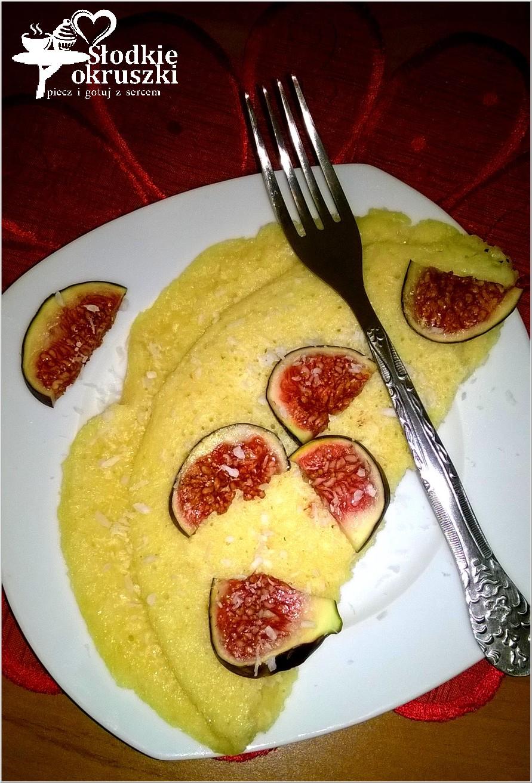 Kokosowy omlet z figą 1