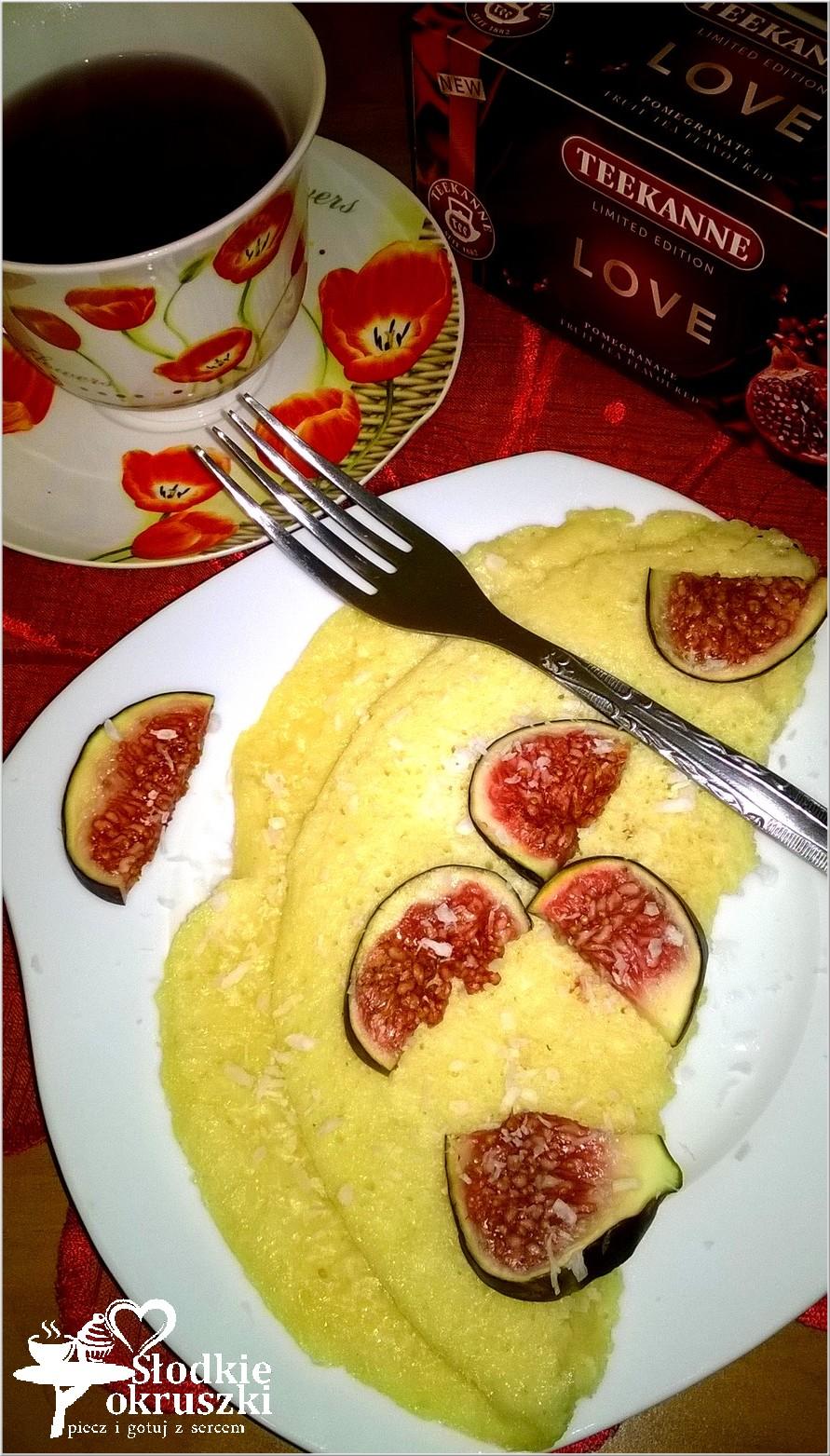 Kokosowy omlet z figą
