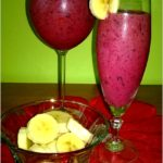 Mrożony koktajl jagodowo-truskawkowy