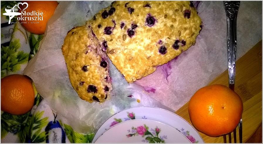 Owsiano twarogowe ciasto śniadaniowe