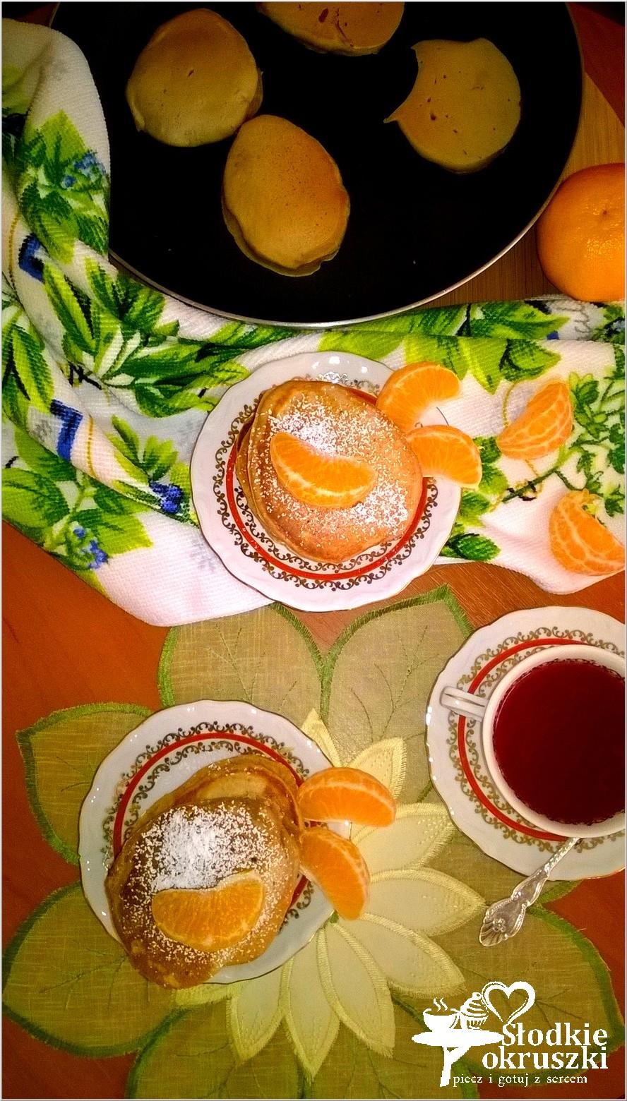 Placuszki na bazie soku z jabłek i granatu.