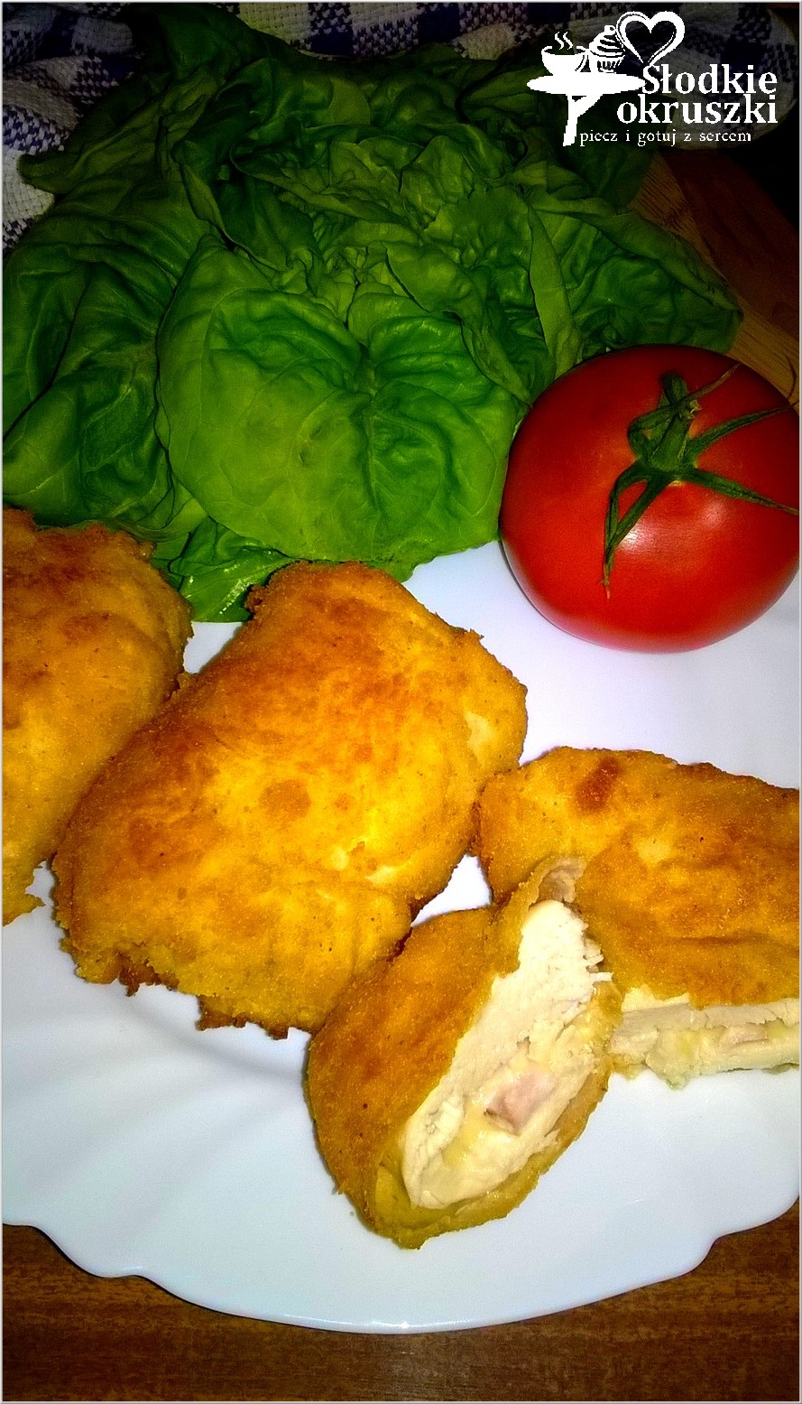 Szybki obiad. Roladki z kurczaka nadziane serem i wędliną.