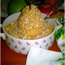 Zapiekana kokosowa owsianka z gruszką