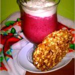 Jagodowo-kokosowy podwieczorek z ziarnistym fit snack