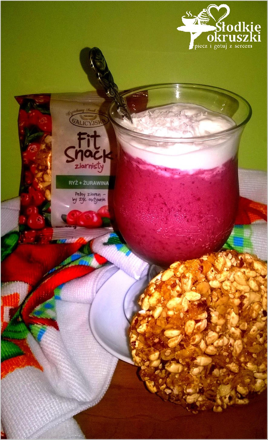 Jagodowo-kokosowy podwieczorek z ziarnistym fit snack 2