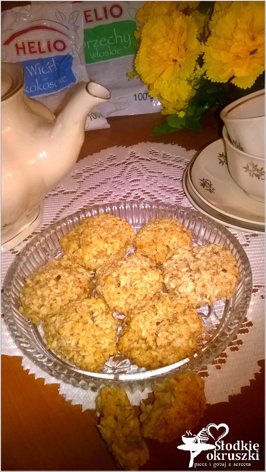 Kokosowe orzeszki. Ciasteczka bez mąki (4)