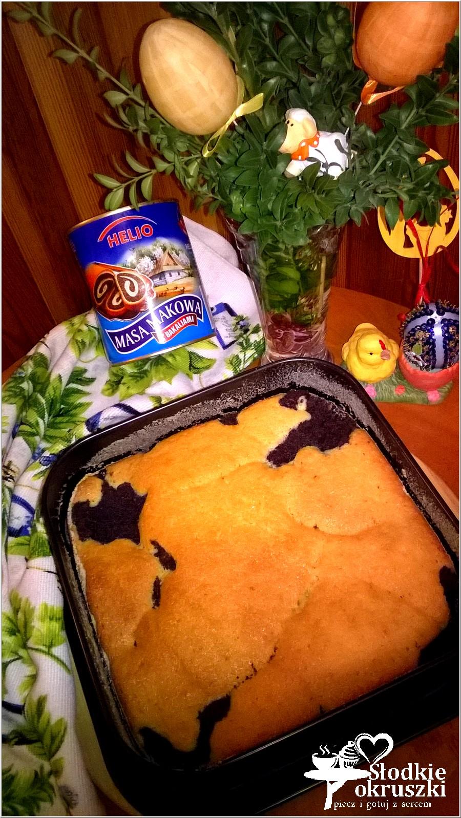 Makowiec zatapiany w cieście. Pyszne ciasto makowe.  (4)