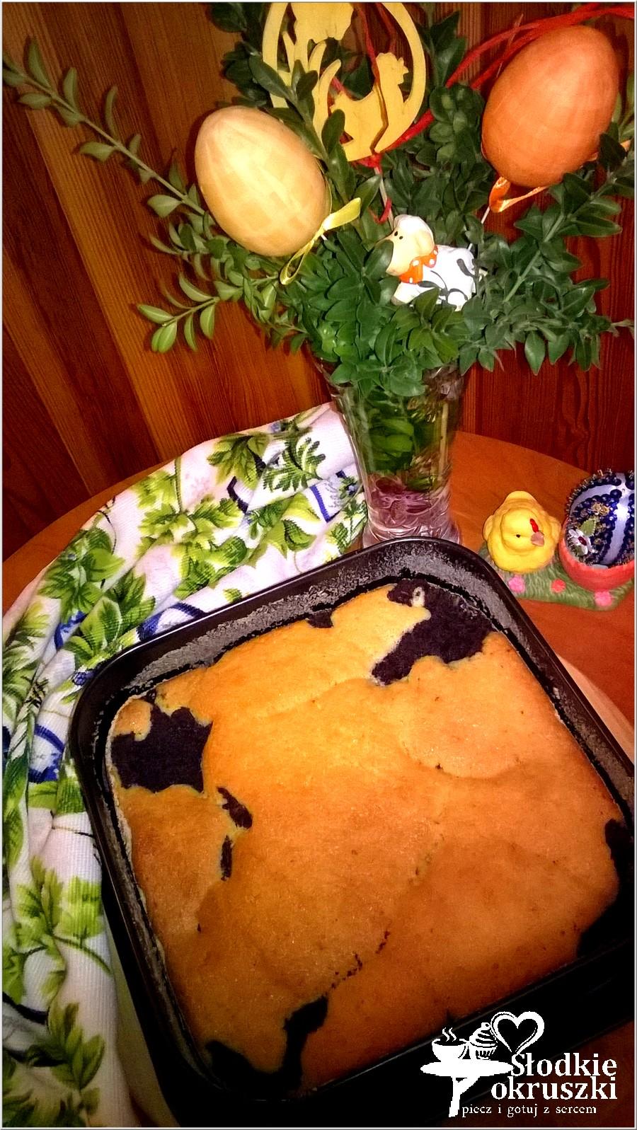 Makowiec zatapiany w cieście. Pyszne ciasto makowe. (5)