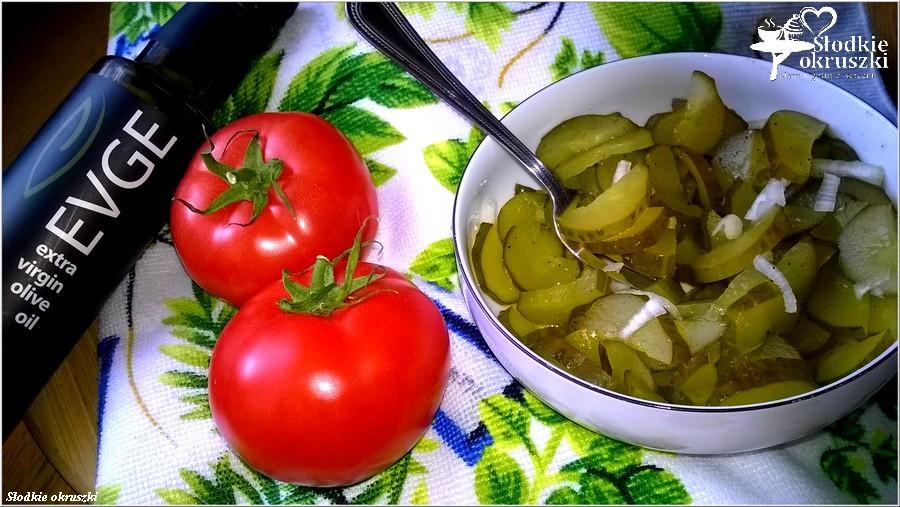 Najłatwiejsza surówka obiadowa z kwaszonych ogórków  (2)