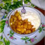 Płatki ryżowe z karmelizowanym jabłuszkiem. Pyszne śniadanie.