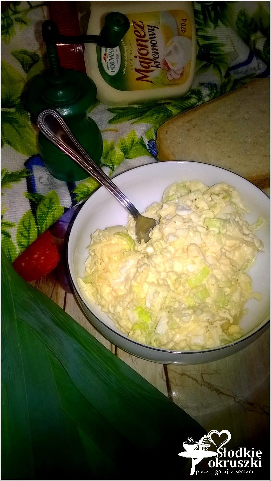 Pasta kanapkowa, z pora, jajek i sera (1)