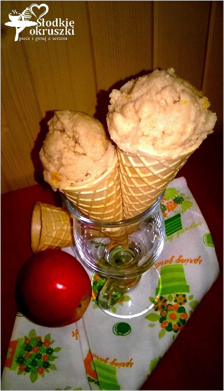 Pyszne i lekki lody jabłkowe z cynamonem i pomarańczową skórką 2
