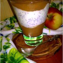 Pyszny deser chia z  jabłkowtym musem (2)