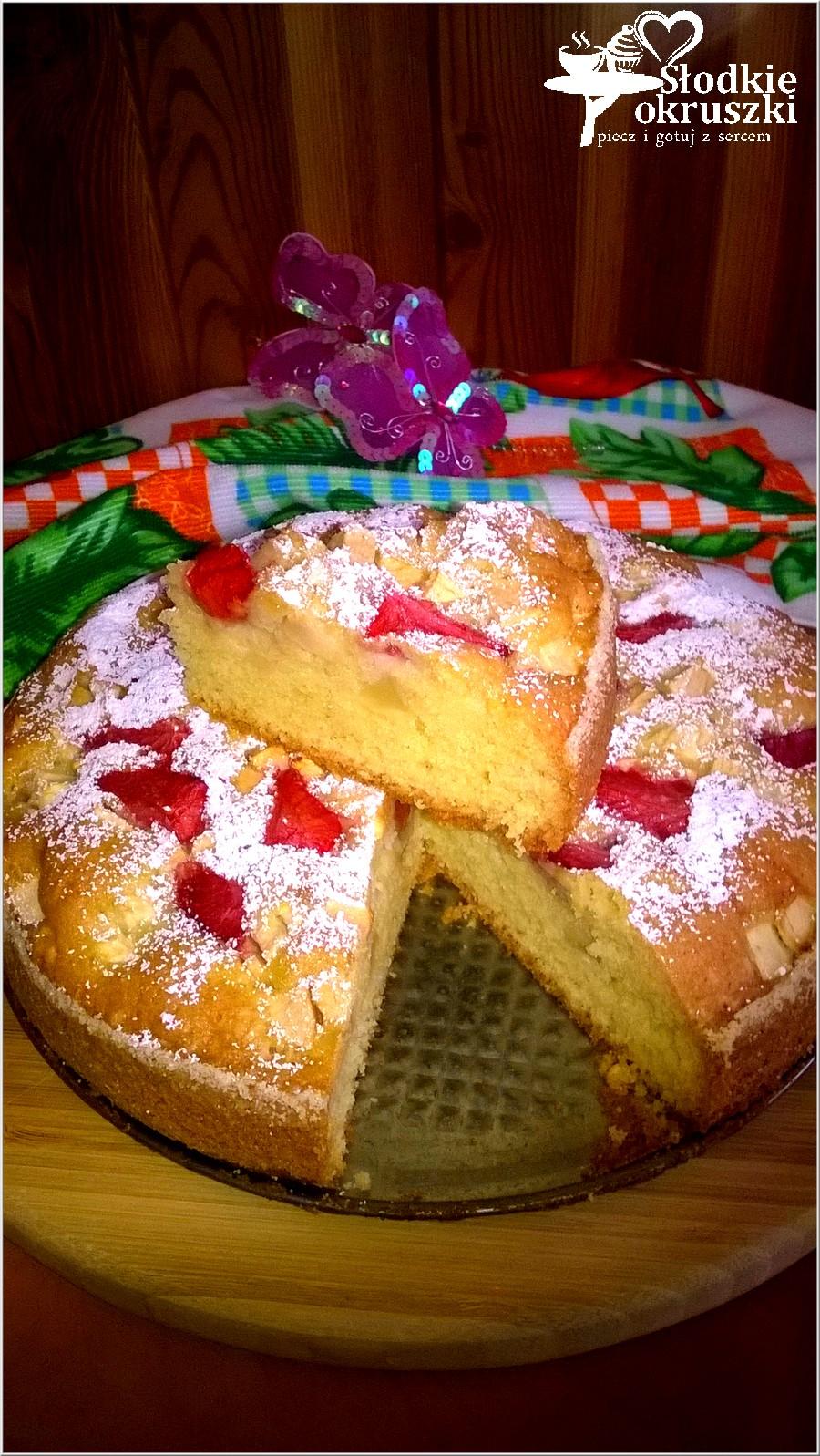 Truskawkowo-jabłkowe ciasto weekendowe (1)