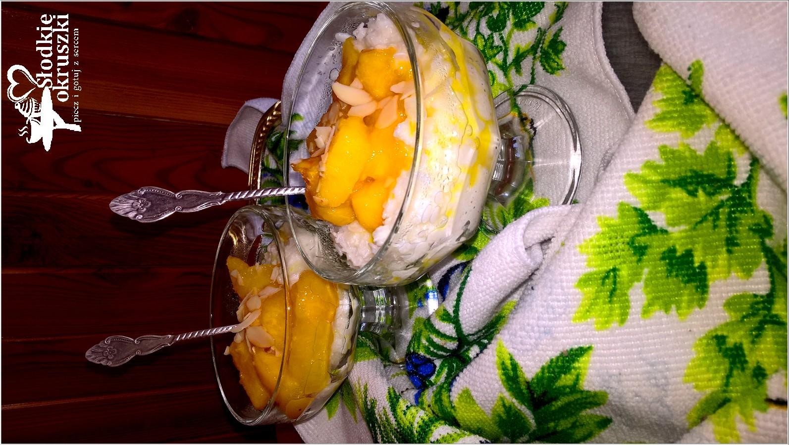 Karmelizowane nektarynki na ryżowej chmurce (1)