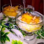 Karmelizowane nektarynki na ryżowej chmurce