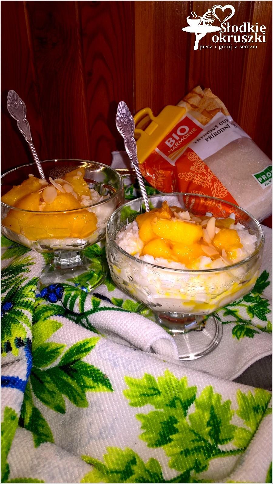 Karmelizowane nektarynki na ryżowej chmurce 2