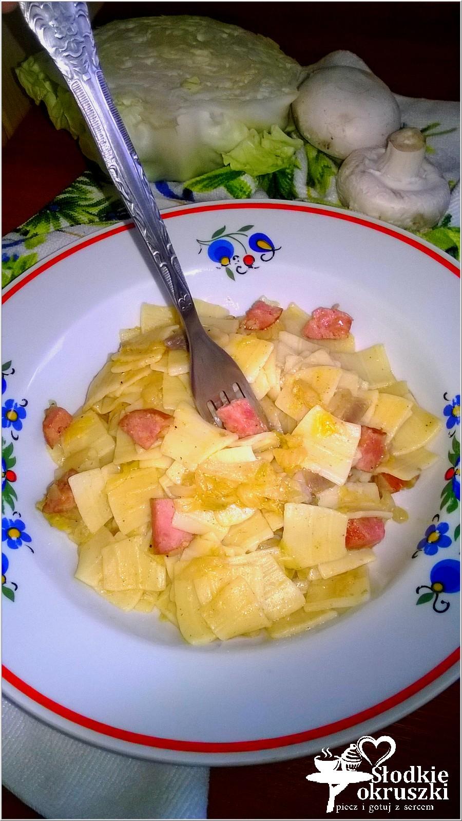 Najprostsze łazanki z białej kapusty. Pyszny i tani obiad. (4)