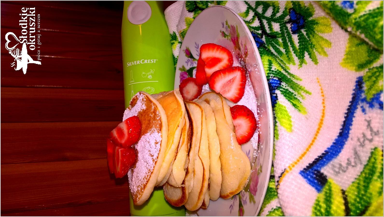 Zdrowy deser owocowy i maślane placuszki  (2)
