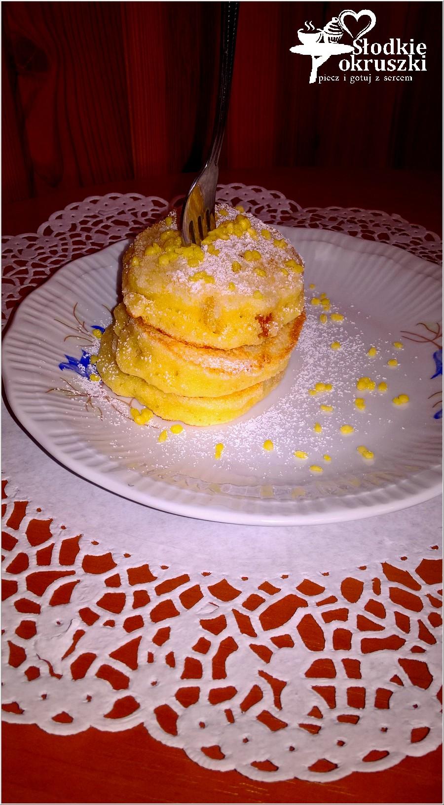 Placuszki z kaszy manny ze skórką pomarańczową (na oleju kokosowym)