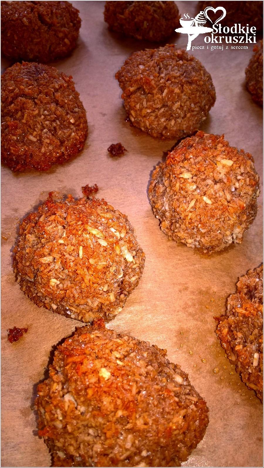 karobowe kokoski, ciasteczka bez mąki