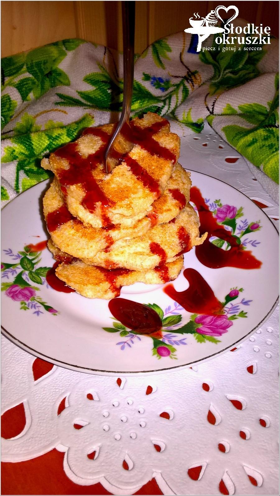 Amarantusowe placuszki z mąką ryżową i jabłkiem. Bezglutenowe śniadanie pełne zdrowia