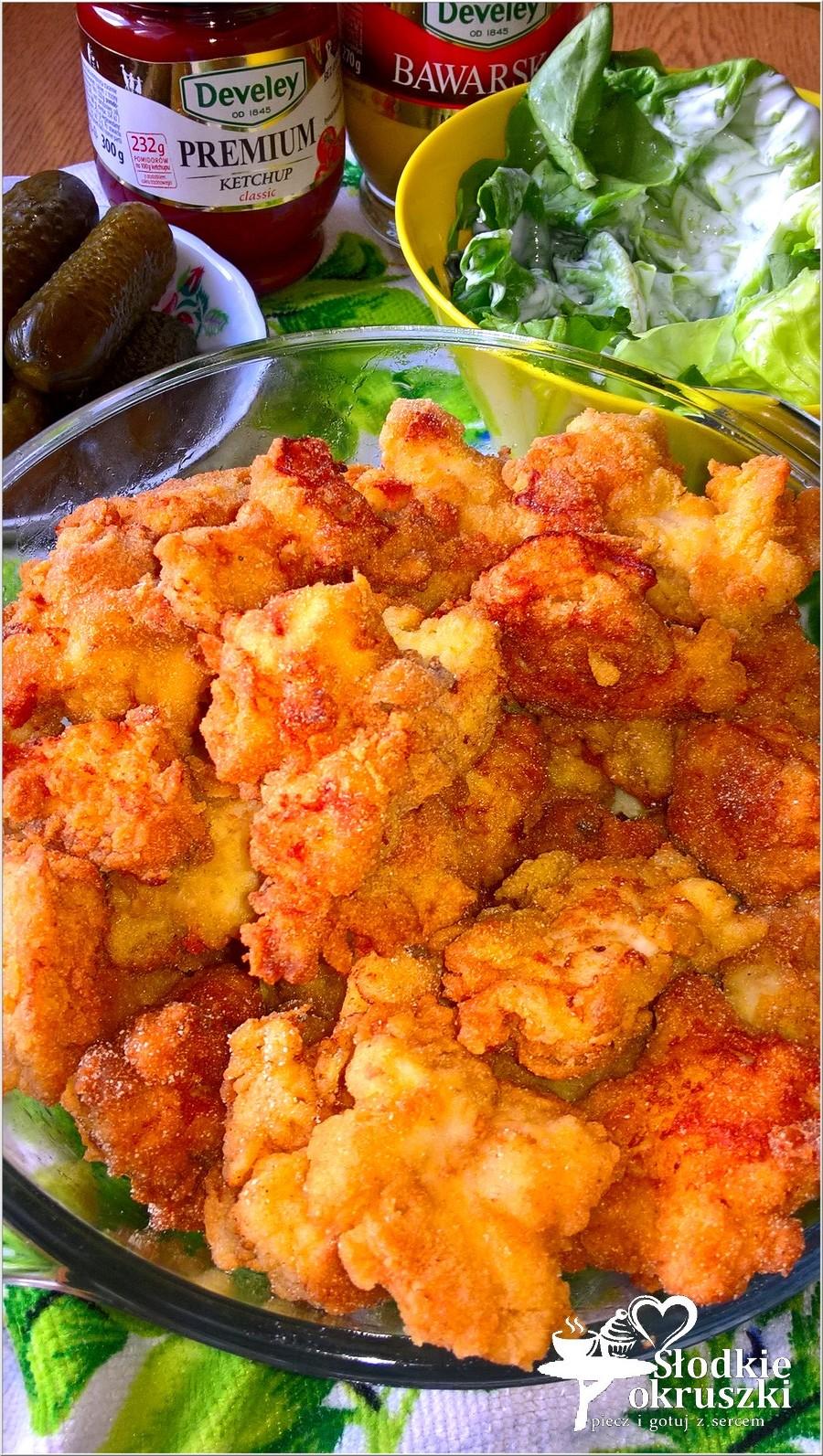 Chrupiące nugettsy z piersi kurczaka w kukurydzianej panierce z bawarską nutą (1)