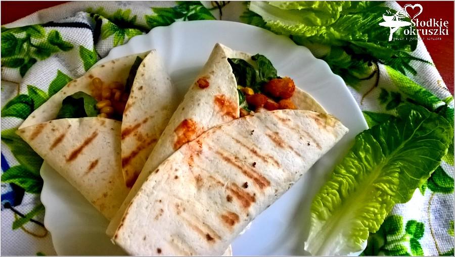 Grillowana tortilla z chrupiącym kurczakiem i kukurydzą 2