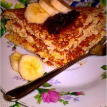 Otrębowy omlet jabłkowy. Zdrowy omlet z jabłkiem bez mąki i cukru. (1)