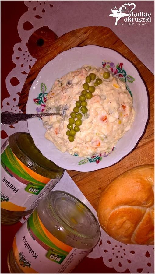 Prostota i smak. Sałatka jarzynowa z groszkiem i kukurydzą. (2)