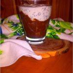 Kawowo owocowy deser dwuwarstwowy z chia