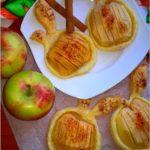 Pieczone jabłka w cieście (nadziane marmoladą)