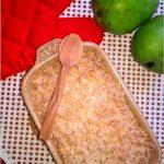 Zapiekana gruszka pod zdrową kokosową kruszonką