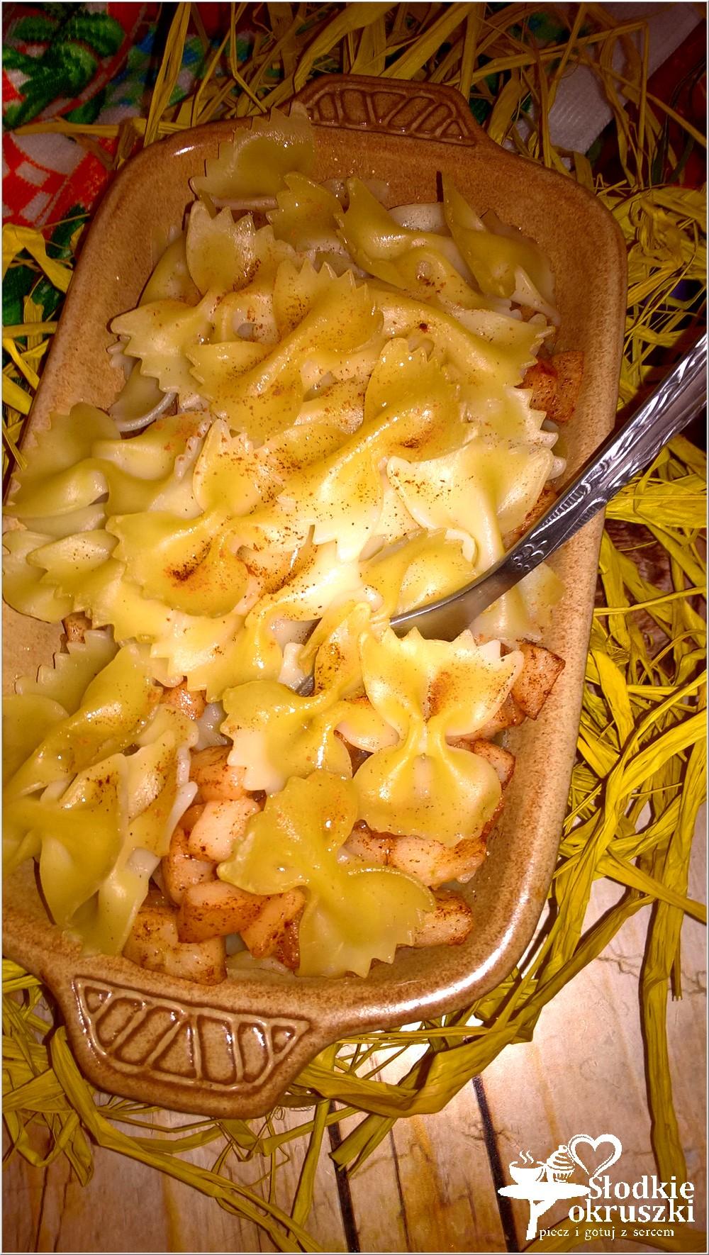 Zapiekanka makaronowa z cynamonowym jabłuszkiem (3)