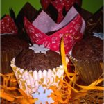 Świąteczne piernikowe babeczki (z dżemem z jagód)