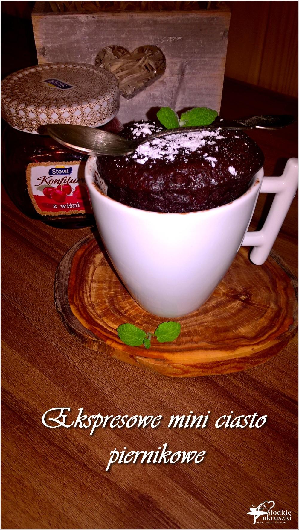 Ekspresowe mini ciasto piernikowe (w filiżance) (1)