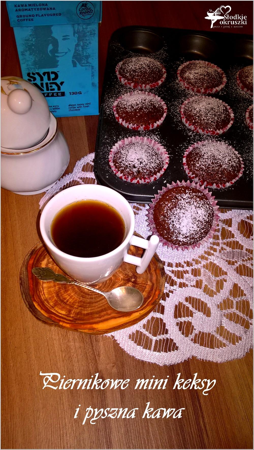 Piernikowe mini keksy i pyszna kawa (1)