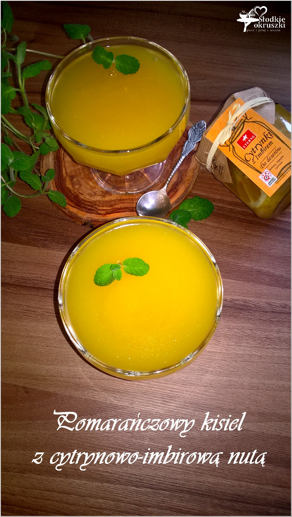 Pomarańczowy kisiel z cytrynowo-imbirową nutą