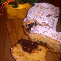 Waniliowo-kakaowe ciasto z cynamonowym jabłuszkiem (1)