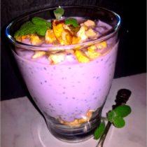 Zdrowy deser borówkowy z chia i jabłuszkiem (1)
