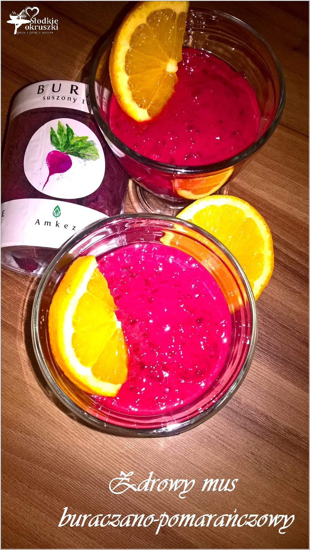 Zdrowy mus buraczano-pomarańczowy (słodki) (2)