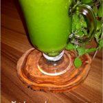 Zielony sok na wzmocnienie i oczyszczenie organizmu