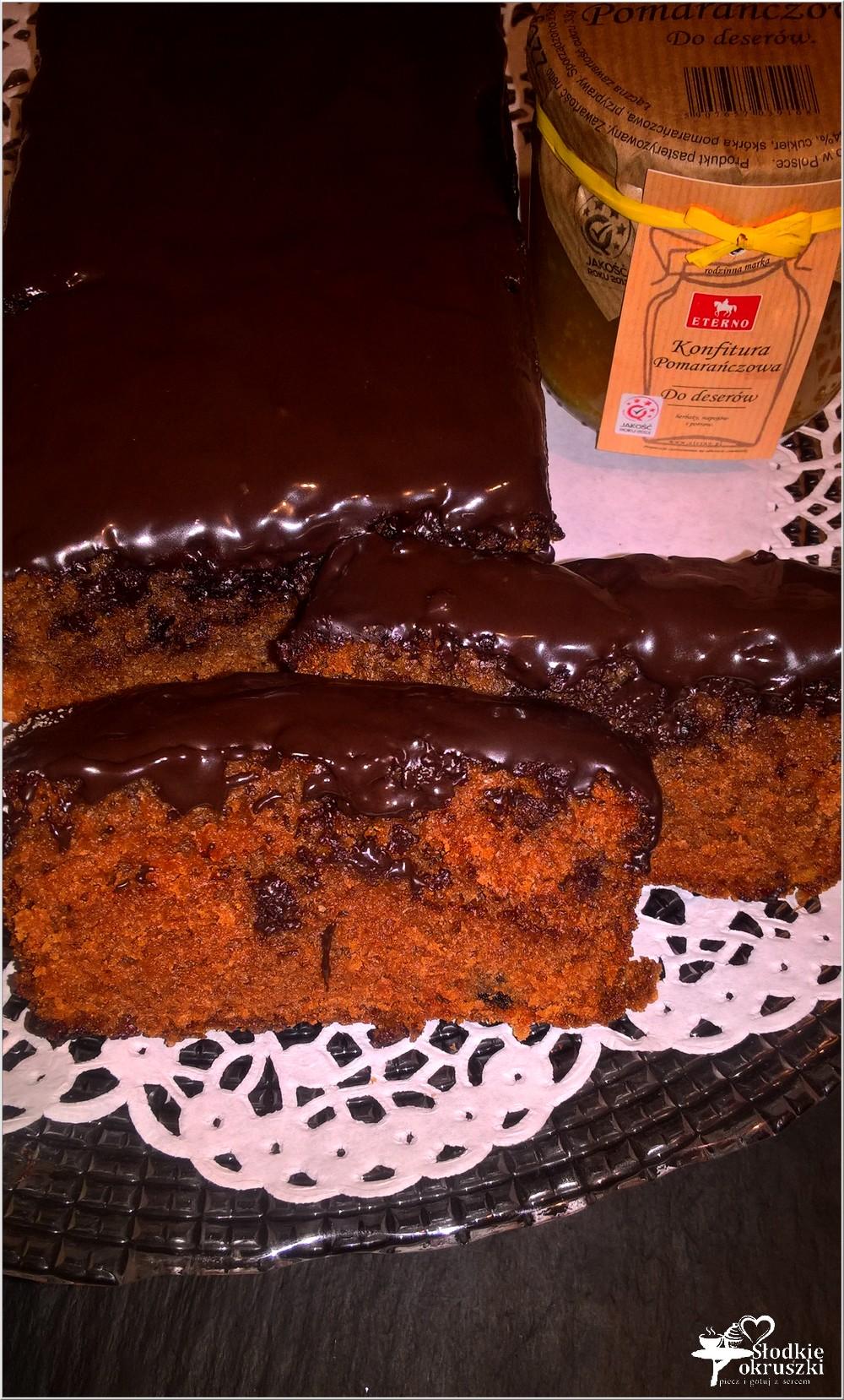 Ciasto czekoladowe wg Nigelli (z konfiturą pomarańczową) (4)