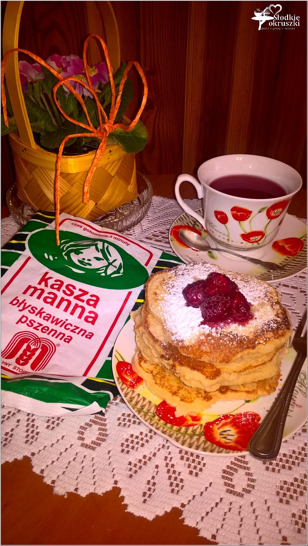 Gruszkowe placuszki z kaszy manny + kilka słów o herbacie (2)