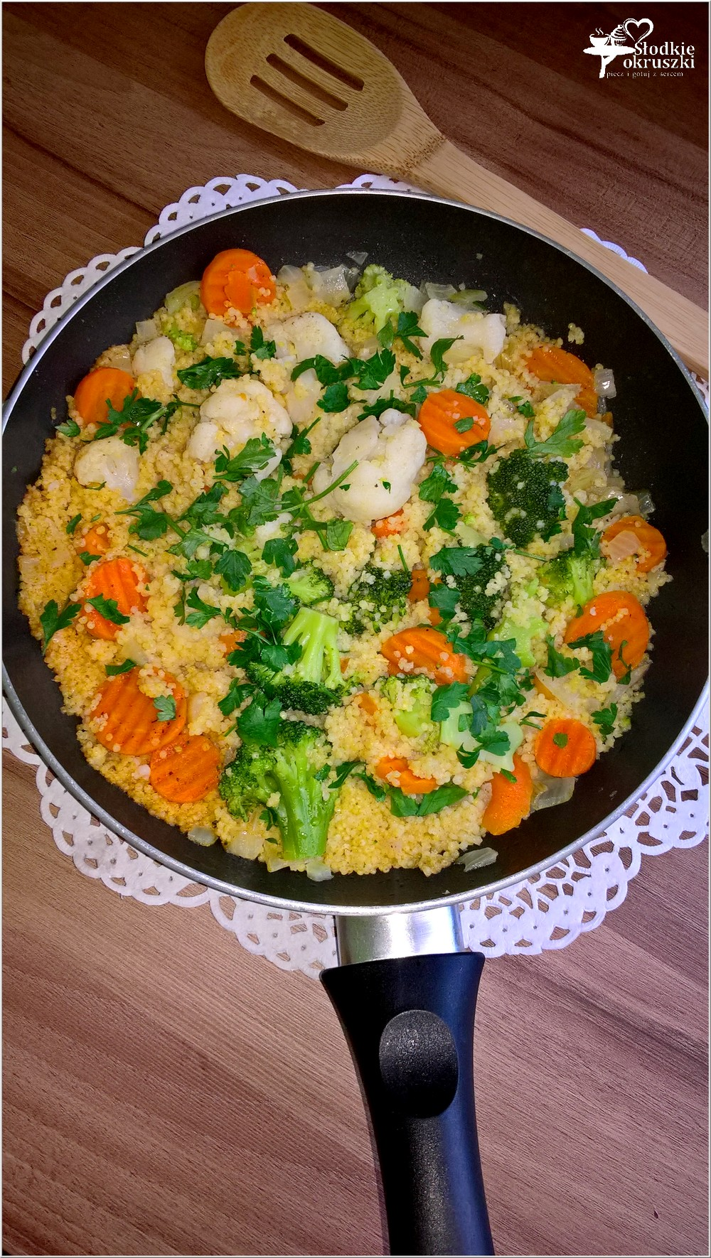 Kasza jaglana z bukietem warzyw. Obiad pełen zdrowia (2)