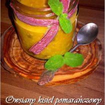 Owsiany kisiel pomarańczowy z miechunką