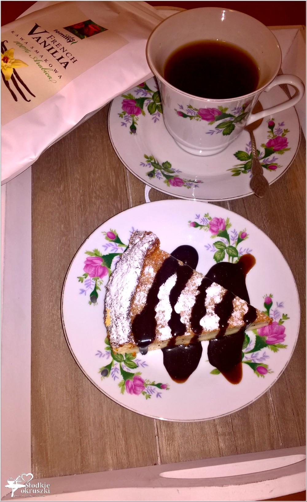 Kawowy sernik z amaretto (dwuwarstwowy) (4)