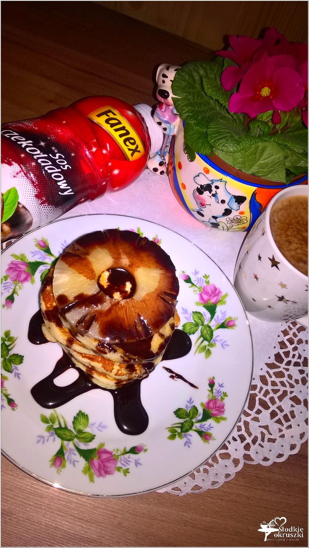 Puszyste placuszki z sosem czekoladowym (3)