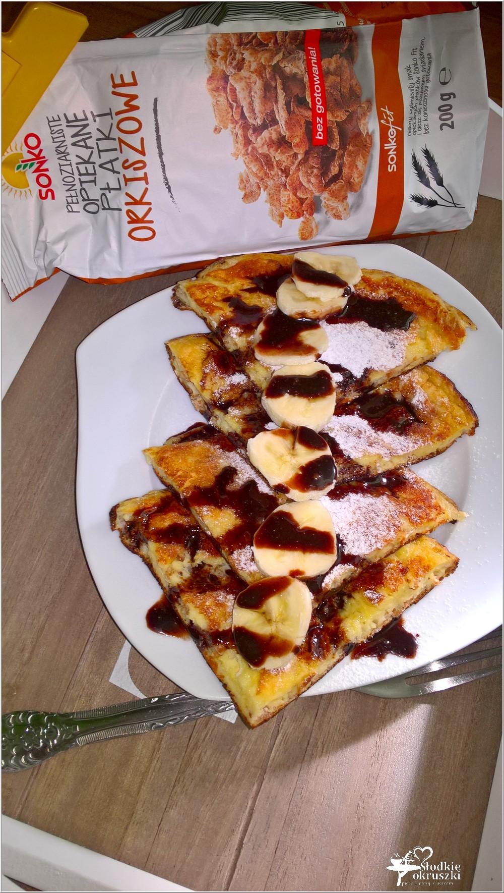 Lekko karmelowy omlet z płatkami orkiszowymi (1)